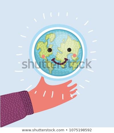 Aarde · eenvoudige · gezicht · cartoon · menselijke