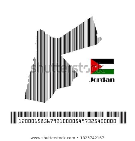Jordânia país bandeira mapa forma texto Foto stock © tony4urban