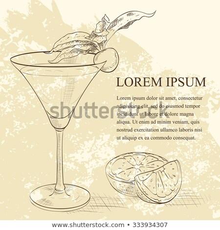 Alcoholic Cocktail Golden dream scetch Stock photo © netkov1