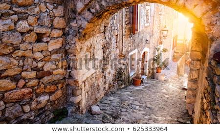 Панорама · старый · город · Черногория · Европа · пляж · синий - Сток-фото © frescomovie