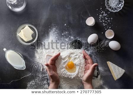 Ingredients to prepare pastry dough Stock photo © Digifoodstock