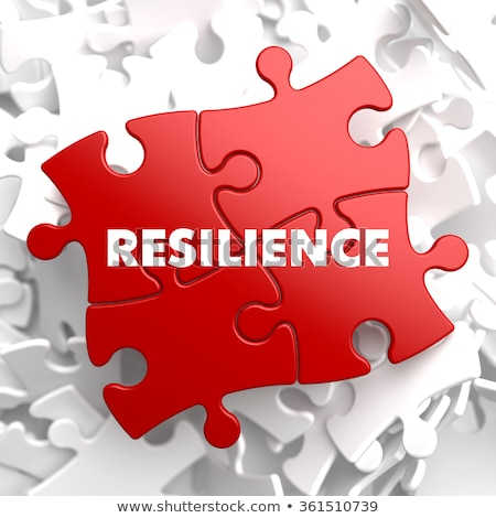 Resilience on Red Puzzle. Stock photo © tashatuvango
