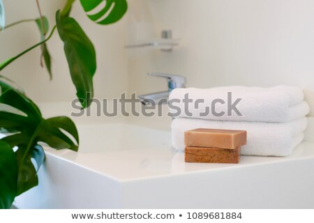 a closeup in a beautiful bathroom stock photo © jrstock