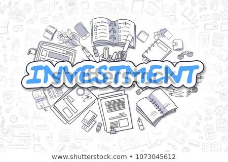 Investimento rabisco projeto estilo ensino solução Foto stock © DavidArts