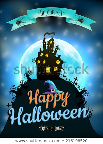 Halloween Background with haunted house. EPS 10 Stock photo © beholdereye