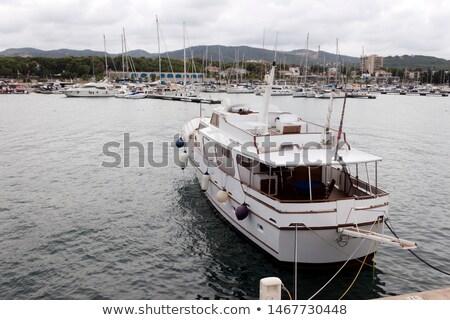 Liny portu Hiszpania morze Śródziemne morza zamazany Zdjęcia stock © nito