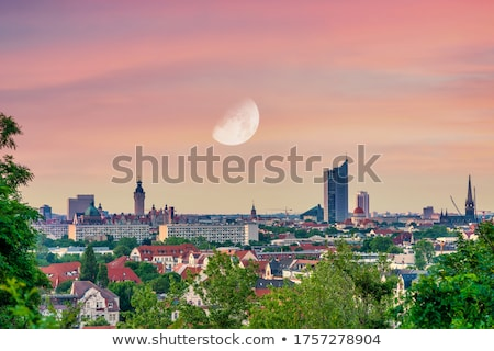 panoramic view of leipzig stock photo © meinzahn