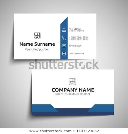 A blue and grey calling card Stock photo © bluering