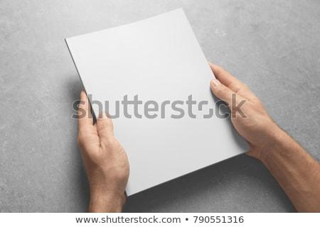 Homem folheto para cima cópia espaço design gráfico Foto stock © stevanovicigor