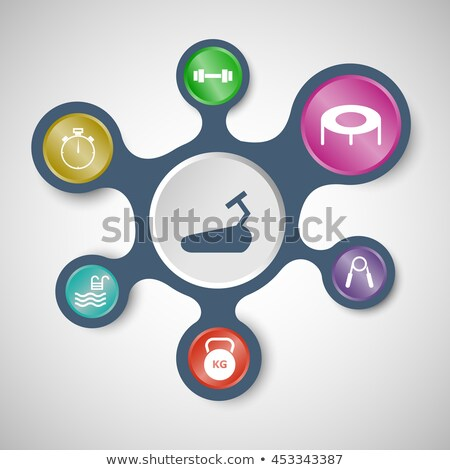 Health infographic templates with connected metaballs Stock photo © punsayaporn