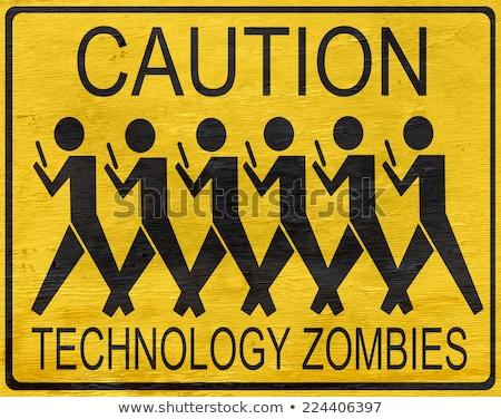 Zombie technologie médias mobiles jeu viral Photo stock © Lightsource