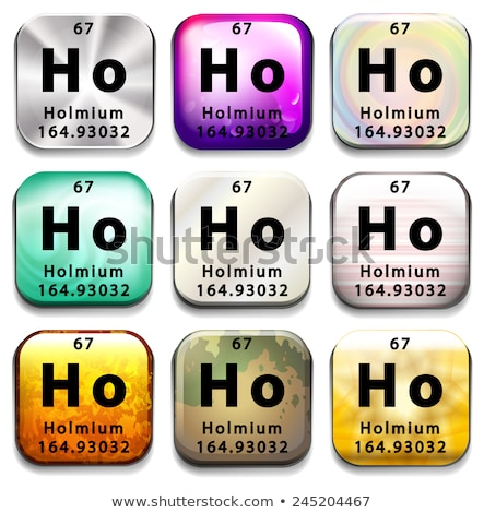 A periodic table button showing Holmium Stock photo © bluering