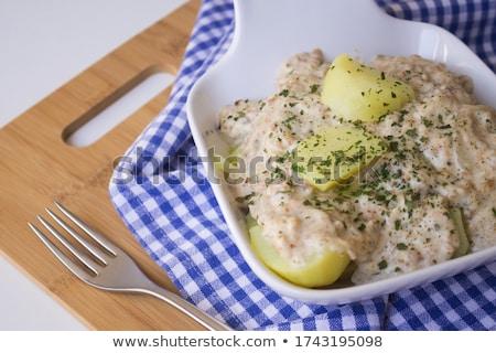 taze · keklikotu · çatal · siyah · gıda · yeşil - stok fotoğraf © Digifoodstock