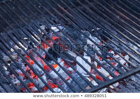 Faszén barbecue hálózat sötét BBQ kandalló Stock fotó © Digifoodstock