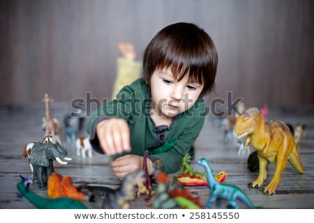 Kids playing in the farmyard Stock photo © bluering