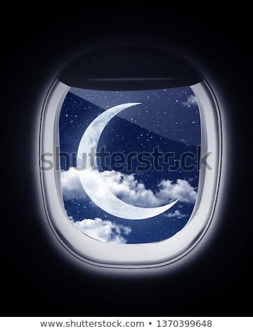 月 平面 実例 光 石灰 衛星 ストックフォト © bluering