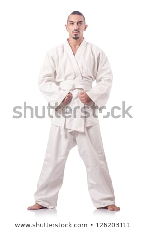 Férfi fehér kimonó öv küzdősportok sport Stock fotó © Jasminko