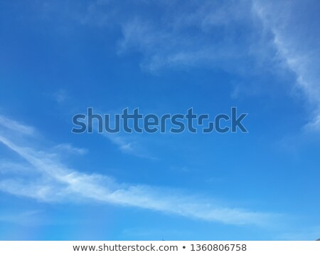 Partially Cloudy Blue Sky Background Stock photo © dgilder