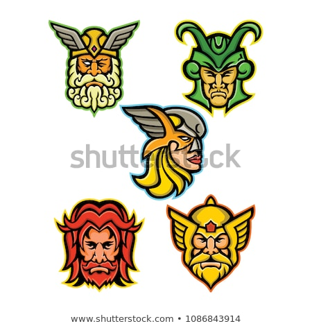 Norse God Odin Head Retro Stock photo © patrimonio