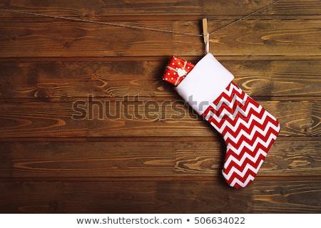 Christmas sokken aanwezig illustratie landschap ijs Stockfoto © adrenalina