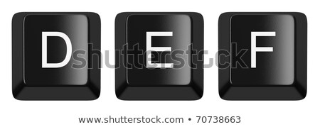 Computer keyboard key FONT. Letter E 3D Stock photo © djmilic