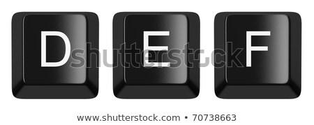 Computer keyboard key FONT. Letter E 3D stock photo © djmilic