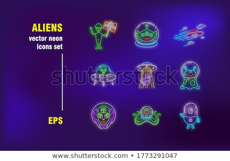 Alien set of banners stock photo © kali