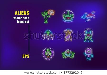 Alien set of banners Stock photo © kali