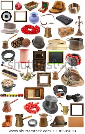 objetos · mobiliário · vintage · interior · isolado · branco - foto stock © bluering