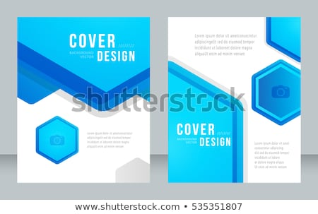 blue annual report business brochure flyer design for business p Stock photo © SArts