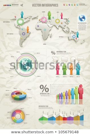 Paper People World Statistics Stock photo © idesign