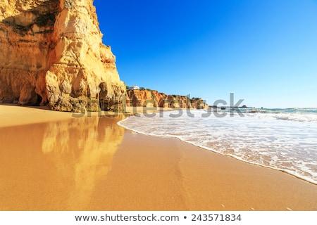 tengerpart · Portugália · augusztus · 30 · turisták · élvezi - stock fotó © homydesign