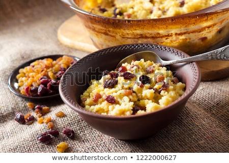 Süt meyve tablo yemek çanak Stok fotoğraf © luka_prijatelj