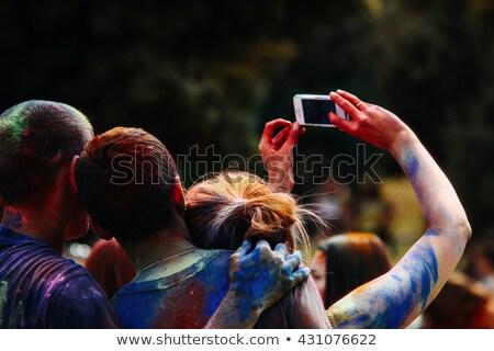Genç fotoğraf cep telefonu renk festival Stok fotoğraf © Yatsenko