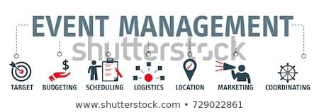 Esemény tervez bannerek teendők listája ötlet promóció Stock fotó © kali