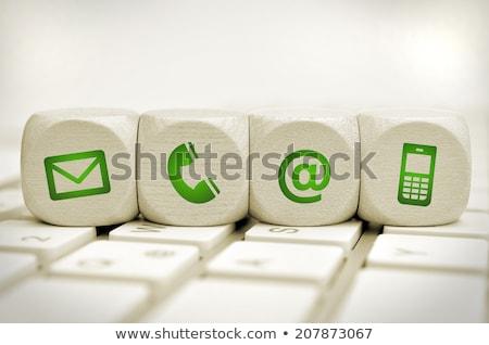 зеленый · икона · высокий · разрешение · белый - Сток-фото © oakozhan