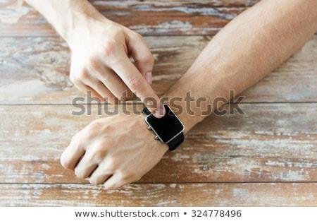 görmek · erkek · bilek · spor · teknoloji - stok fotoğraf © dolgachov