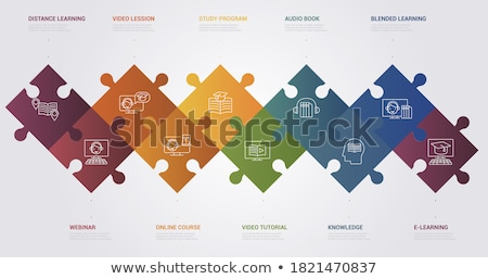 Infographic chart with blended graphs Stock photo © SwillSkill