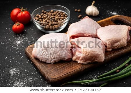生 鶏 白 プレート ストックフォト © Digifoodstock