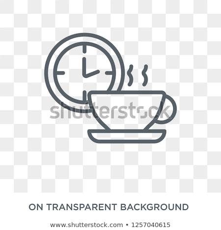 コーヒーブレイク アイコン 手 カップ ホットドリンク ストックフォト © biv