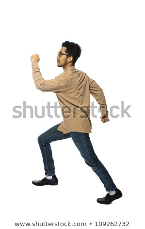 businessman Male Running on white background Stock photo © Istanbul2009