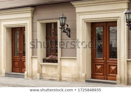 Ancient Wooden Door Stock photo © zhekos