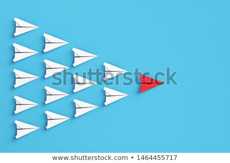Ambition and target concept with paper plane. 3d rendering Stock photo © alphaspirit