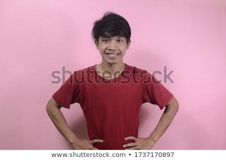 Indonesio nino rosa camisa ilustración ninos Foto stock © bluering