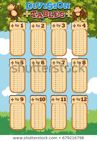 Chart design for division tables Stock photo © bluering