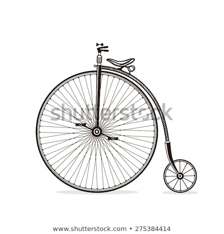 Victorian vintage bicycle vector - Illustration isolated on whit Stock photo © NikoDzhi