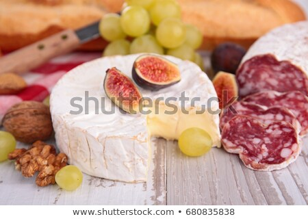 camember with fig and grape Stock photo © M-studio