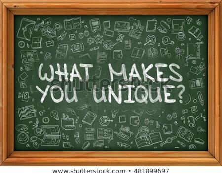 Wat uniek groene schoolbord doodle Stockfoto © tashatuvango