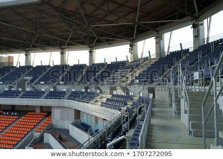 narancs · üres · műanyag · stadion · nyitott · ajtó · sportok - stock fotó © dotshock