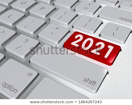 keyboard with red button   business optimization 3d stock photo © tashatuvango